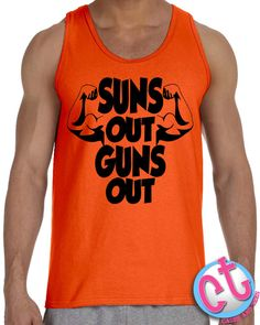 257e41ce5f7 Suns Out Guns Out Tank Top Mens Tank Top Summer by CasesandTees