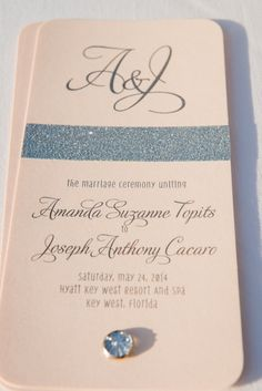 Amanda + Joe | Poeme Custom Wedding Invitation | Destination Wedding #RealWedding | Pink + Silver Palette | Margot Landen Photography