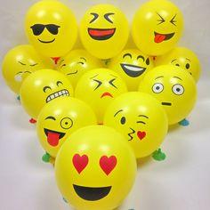 """100 Unids 12 """"Emoji Expresión Amarilla Pelotas Inflables de Dibujos Animados Globos de Látex Globos de Boda Cumpleaños Decoración Del Partido 30 cm"""