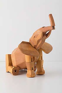 Anthropologie - Hattie The Elephant Wooden Toy
