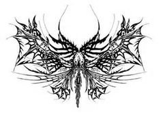 bone wings tribal tattoo - - Yahoo Image Search Results