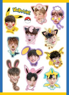Wanna One ! Tumblr Stickers, Cute Stickers, Phone Stickers, Jaehwan Wanna One, Ong Seung Woo, Fanart, One Logo, Kpop Merch, Aesthetic Stickers