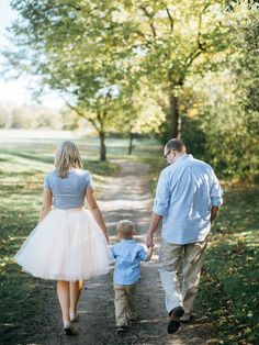 Blush tulle skirt, family photo, strolling through the park