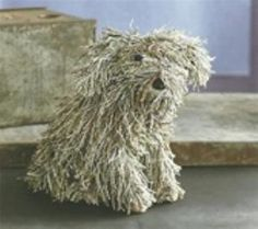 Recycled Rascal made from newspapers....the mascot at Earth Inspired Living!