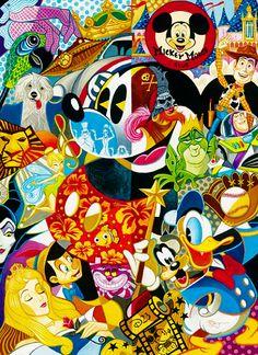 Los personajes y la peliculas más conocidas de Disney. Pero el más conocido: Mickey Mouse.