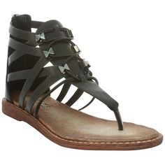 EXTREME By Eddie Marc Zaida Gladiator Sandal (€18) ❤ liked on Polyvore featuring shoes, sandals, black, strappy sandals, black strap flats, gladiator sandals shoes, black gladiator sandals and strappy flats