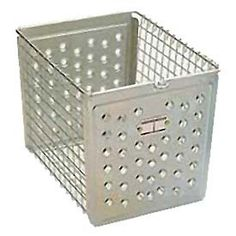 "Perforated Front Steel Basket 9""W"