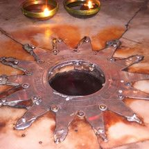 The Star of Bethlehem in the Church of the Nativity marks the spot where Jesus was born..