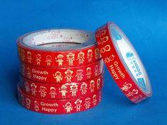 "Japanese Deco Kawaii Tape Animated ""GROWTH HAPPY"" KIDS"
