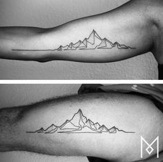 Drawing with only one line (like Pierre Emmanuel Godet does) is mesmerizing. But a single-line tattoo takes this art to the next level. Mo Ganji produces minimalistic tattoos that even the most conservative mom will want to get! One Line Tattoo, Single Line Tattoo, Line Art Tattoos, Body Art Tattoos, Sleeve Tattoos, Buddha Tattoos, Forearm Tattoos, Hand Tattoos, Tatoos