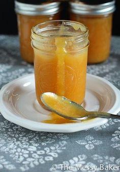 Peach Butter-4246 Flavored Butter, Homemade Butter, Butter Recipe, Homemade Jelly, Jelly Recipes, Jam Recipes, Canning Recipes, Canning Tips, Cooker Recipes