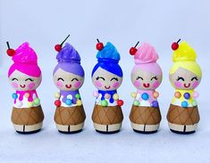 Little Ice Cream Girl Wooden Peg Doll Shadow Box Shadowbox measurements: Height: 4 Width: 3 Depth: 1 1/2 It can be hung on the wall or displayed on a shelf. Peg doll measures 1 3/4 tall. ***Each item is handmade and may vary slightly.