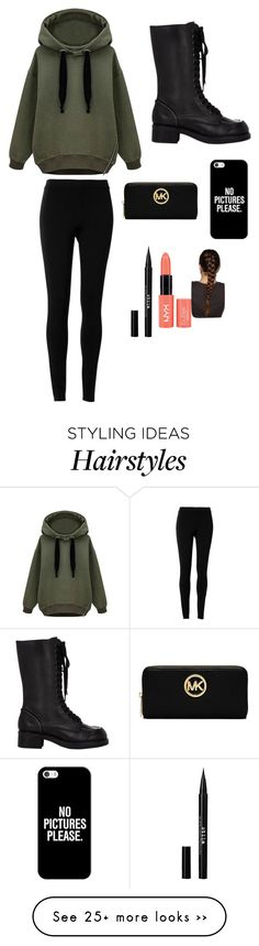 """Untitled #96"" by lalmosawi on Polyvore featuring moda, Max Studio, Jil Sander, Casetify, MICHAEL Michael Kors e Stila"