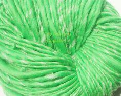 Handspun Glow in the Dark Yarn Lime Green Merino  by thefinelime, $27.00