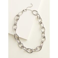 Chunky Silver Necklace, Elizabeth And James, Kohls, Fashion Necklace, Chain, Link, Jewelry, Style, Swag