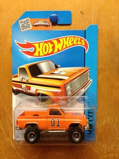 Hot Wheels '83 Chevy Silverado Custom 4x4 Dukes Of Hazzard General Lee RR #HotWheels #Chevrolet