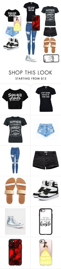 """""""squad goals on vacation"""" by arilovesu12 on Polyvore featuring Boohoo, Topshop, Isapera, Converse and Casetify"""
