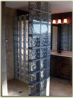 New Construction featuring a glass block shower in the Master Bathroom