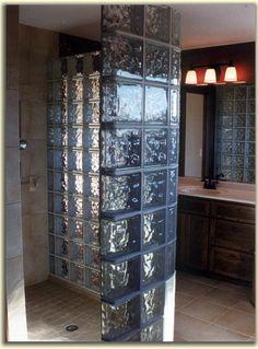 black mortar.. interesting http://www.husnikhomes.com/images/new_construction/glass_block_shower.jpg