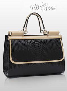 $ 31.29 Impressive Luxurious New Arrival Snake Printed Fancy Euramerican Handy Handbag