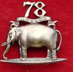 British; 78th (Highlanders) Regiment of Foot (or The Ross-shire Buffs), Glengarry badge, pre 1881