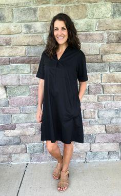 4b1356149f1f 3 Ways to Style a Black Dress with Pockets - momma in flip flops Black Dress