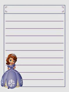Cuaderno de Princesa Sofía para Imprimir Gratis.   Ideas y material gratis para fiestas y celebraciones Oh My Fiesta!