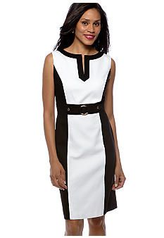 Tahari ASL Sleeveless Jacquard Dress