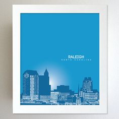 Raleigh North Carolina Cityscape Downtown by YouandYoursPrints, $20.00