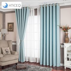 Curtain Designs For Living Room Home Ideas 4 Colors Available Soild Color High Shading Office