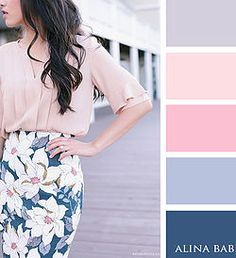 Shades of pink + shades of blue