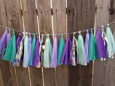 Mermaid tassel garland, mermaid party, under the sea, birthday party, first birthday, baby shower,party supplies,cake smash,mermaid birthday