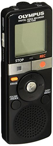 The VN-7200 combines the simplicity of analog recorders with Olympus' renowned audio technology. This digital voice recorder offers hundreds of hours of recording time key features to help capture id...