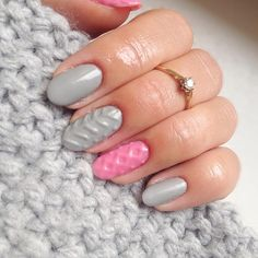 Imagine matching your nail art pattern with your favorite sweater this season. This is possible with the cable knit nails that are the latest trends. Nail Art Designs, Simple Nail Designs, Spring Nails, Summer Nails, Matte Nails, Acrylic Nails, Coffin Nails, Nail Design Spring, Nagellack Trends