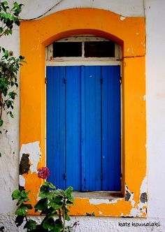 blue orange door.