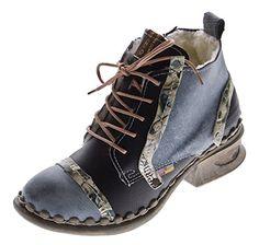 Leder Damen Stiefeletten Comfort Winter Knöchel Schuhe TMA 5355 Stiefel Schwarz Boots Gr. 40 - http://on-line-kaufen.de/tma/40-eu-leder-damen-stiefeletten-comfort-winter-tma