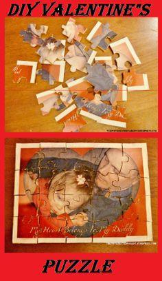 DIY Valentine's Day Photo Puzzle.