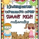 Common Core Summer Review/Homework Packet {Kindergarten}  This packet can be used as an end of the year classroom review or be sent home with studen...$