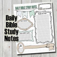 Bible Study PDF for Daily Notes - Prayer Requests - Thoughts - Praise and Blessings - Scripture - Key Verse - Memory - Journal - Bible Study