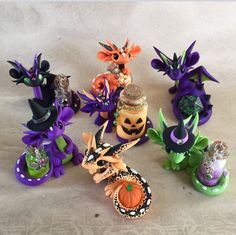 Halloween Dragons by Dragonsandbeasties