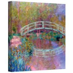 Art Wall Japanese Bridge Gallery Wrapped Canvas by Claude Monet 14 by 18Inch * Want to know more, click on the image.Note:It is affiliate link to Amazon.