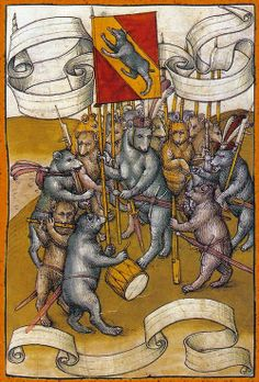 """""""for today's the day the teddy bears have their piic-niic"""" -- Diebold Schilling the Younger - Spiezer Chronik (15th century)"""