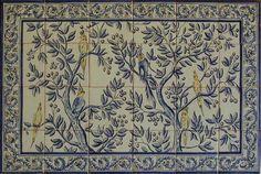 17th Century Italian Tile murals, spanish tile, victorian tile, decorative tile, ceramic tile