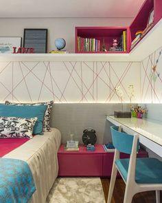 Bom diiia, gente!  Um quarto de menina lindo, com azul e rosa juntas. ❤ #decorfeelings via @sessoedalanezi.com.br