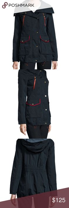 NEW Vince Camuto Women's Navy/Red Hooded Jacket Brand new WOT, water resistant & hooded. Never worn! Vince Camuto Jackets & Coats