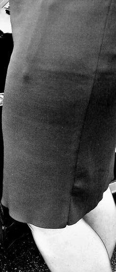Garter Bumps Under Tight Skirt