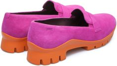 Tomorrow juxtaposes the silhouette of a classic women's shoe with a futuristic rubber sole.