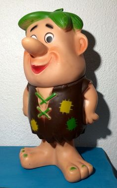 "1960 Original Barney Rubble Plastic Toy 9.5"" Tall by VintageDayzFound on Etsy"