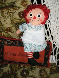 Raggedy Ann Doll - I have this one but wish I knew what Raggedy Andy doll went with her...