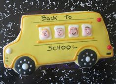 School Bus cookie